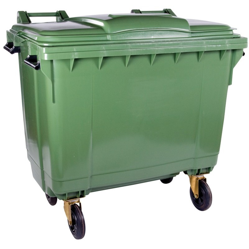 660l Plastic Wheelie Bin 4 Wheels The Feed Bins