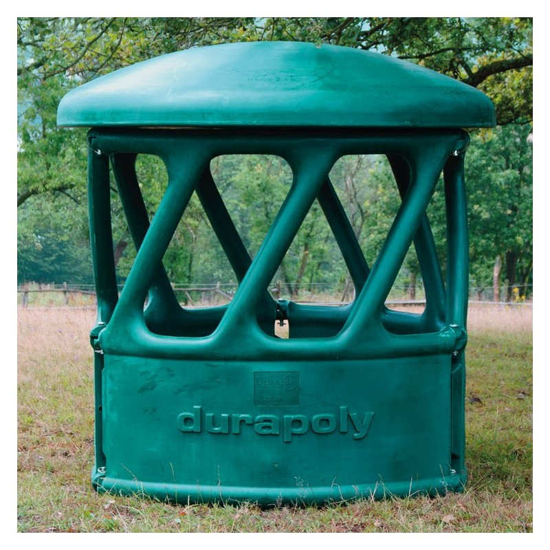 Heavy duty round bale feeder part green the feed