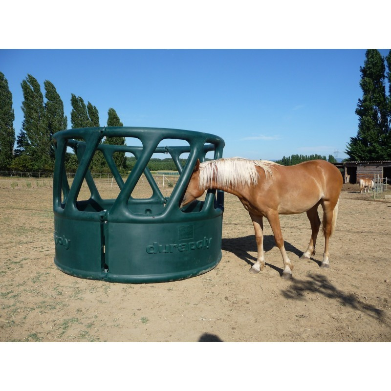 Heavy Duty Round Bale Feeder 4 Part Green The Feed
