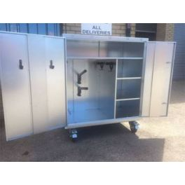2 Saddle Galvanised Mobile Competition Show Locker