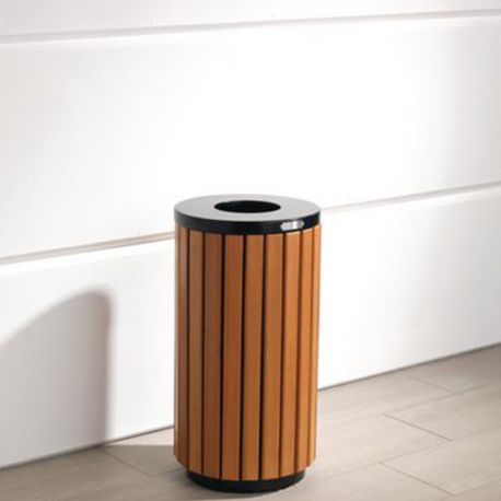 42l Wood Effect Outdoor Litter Bin The Feed Bins Storage Company