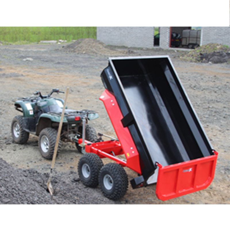 Dump Trailer With Hydraulic Tip For Compact Tractor
