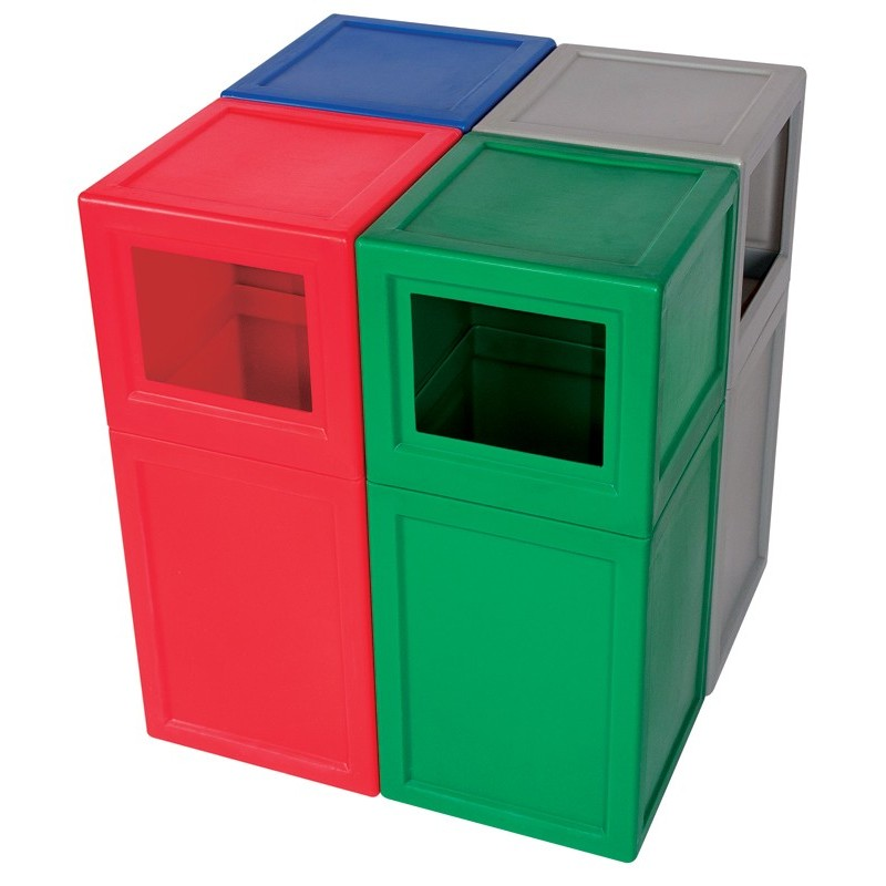 Square Litter Bin With Lid And Plastic Liner The Feed